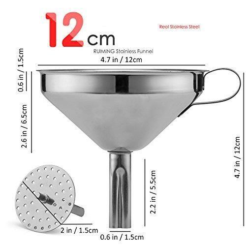 ENTONNOIR  Entonnoir INOX avec ane, Ø 12 cm Cuisine en Acier