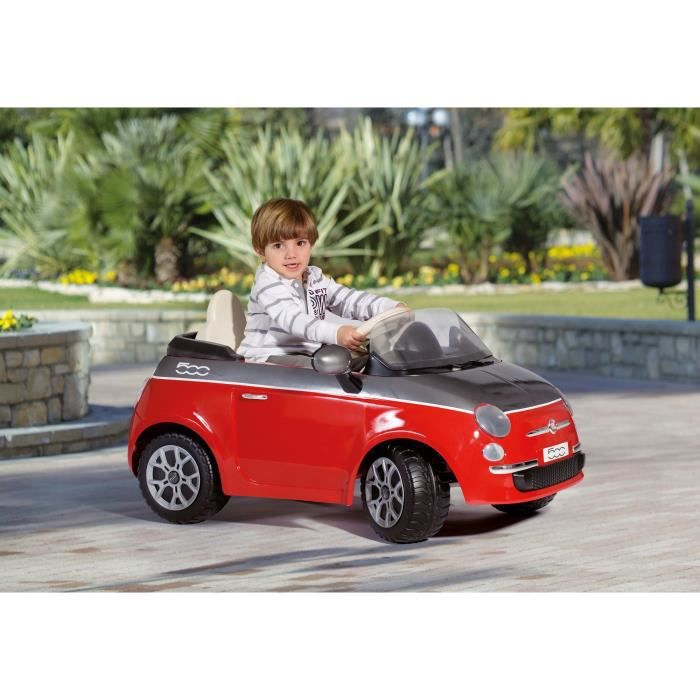 peg perego voiture electrique fiat 500 rouge 6 volts. Black Bedroom Furniture Sets. Home Design Ideas