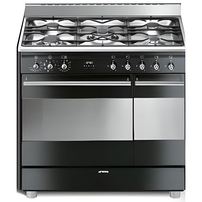 smeg cuisini re gaz centre de cuisson 90cm scb92 electrom nager. Black Bedroom Furniture Sets. Home Design Ideas