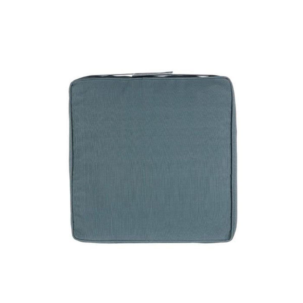 COUSSIN DE CHAISE  Galette de chaise - 40 x 40 cm - Bleu orage