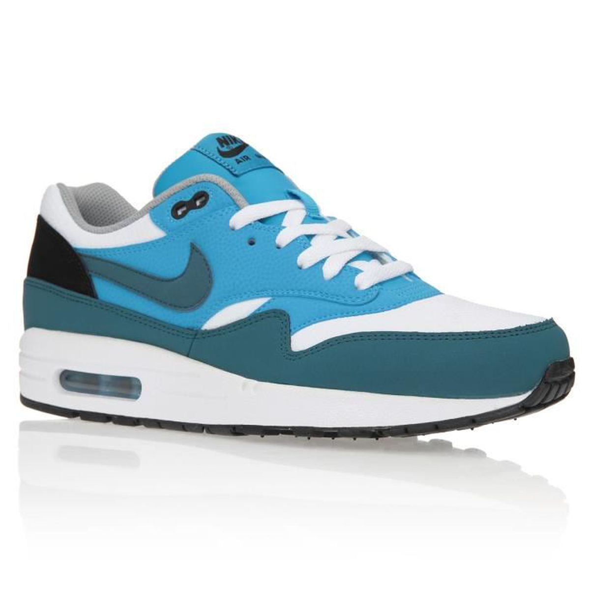 chaussures nike air max 1 essent blanc blanc achat vente basket cdiscount. Black Bedroom Furniture Sets. Home Design Ideas