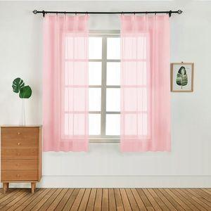 RIDEAU ROSE 1PC 100x130 chambre à coucher moderne fenêtre