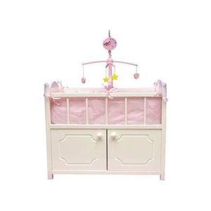 Sun poupées soins Center Puppenbett Poupées Armoire Bois Lit de Poupées meubles Rose NEUF