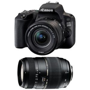 APPAREIL PHOTO RÉFLEX CANON EOS 200D + EF-S 18-55 mm f/3.5-5.6 IS STM +