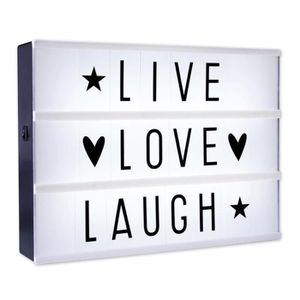LAMPE A POSER Caisson lumineux LED lightbox - Live, Love, Laugh