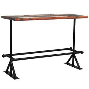 MANGE-DEBOUT Homgeek Table de Bar en Bois 150x70x107 cm Industr