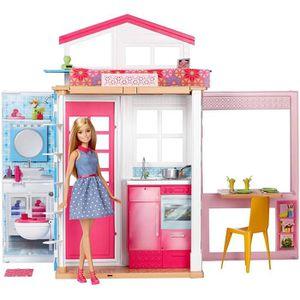 MAISON POUPÉE BARBIE coffret jouet enfant- Barbie & Sa Maison -