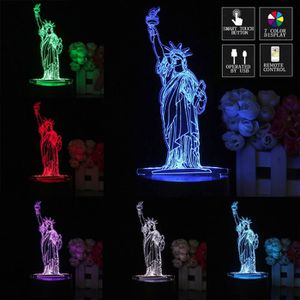 LAMPE A POSER Veilleuse lampe chevet nuit led 3D new york statue
