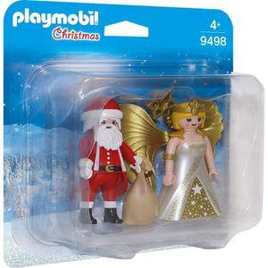 UNIVERS MINIATURE PLAYMOBIL 9498 - Christmas - Duo Père Noël et Ange