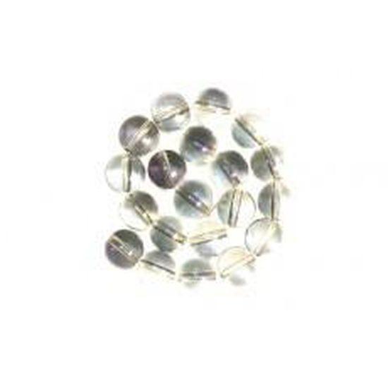 Lot de 10 Perles Nacrées en Verre 12mm Rose Pâle