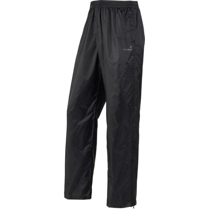 WANABEE Pantalon coupe-vent Bruine 100 - Homme - Noir