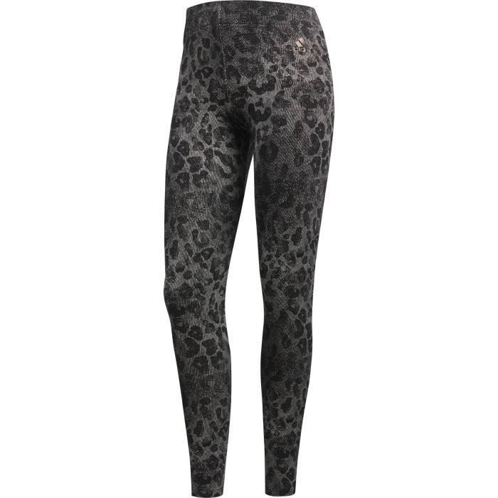 ADIDAS Pantalon Ess Aop Tight - Femme - Gris anthracite