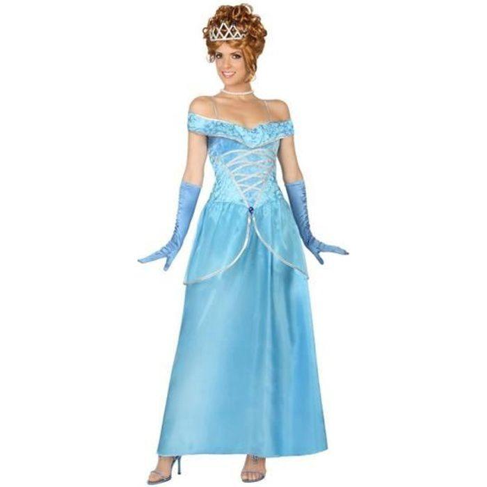 ATOSA Déguisement Princesse Bleu - Panoplie Adulte