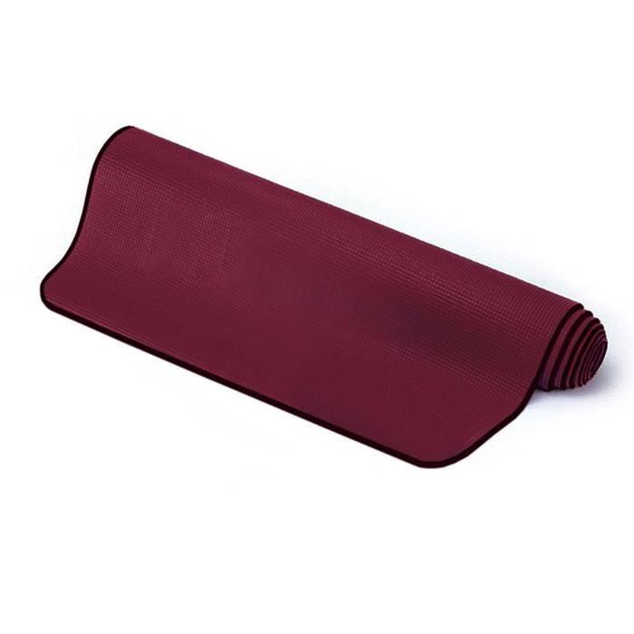 Sissel Tapis Yoga et Pilates mixte adulte Bordeaux Taille Unique