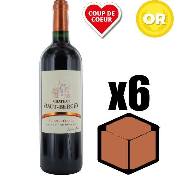 X6 Château Haut-Bergey 2015 75 cl AOC Pessac-Léognan Rouge Vin Rouge