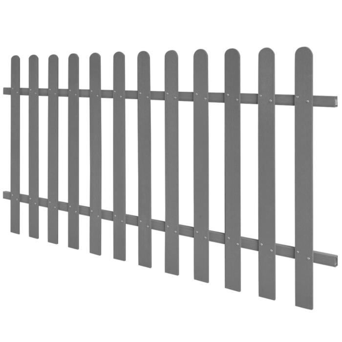 Moderne - Clôture à piquets -Clôture à treillis - Clôture jardin- WPC 200 x 100 cm classique💎8607