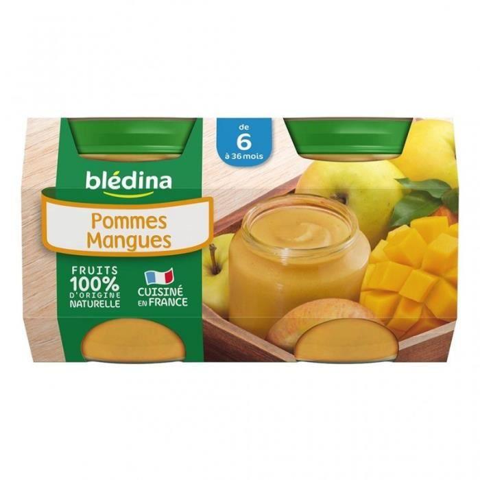 Blédina Pommes Mangues (de 6 à 36 mois) par 4 pots de 130g (lot de 6 soit 24 pots)