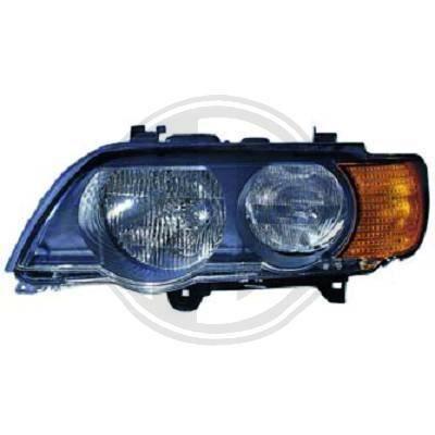 1290081 Feu phare gauche ( cote conducteur ) pour BMW X5 de type E53 de 1999 a 2003 Look Origine
