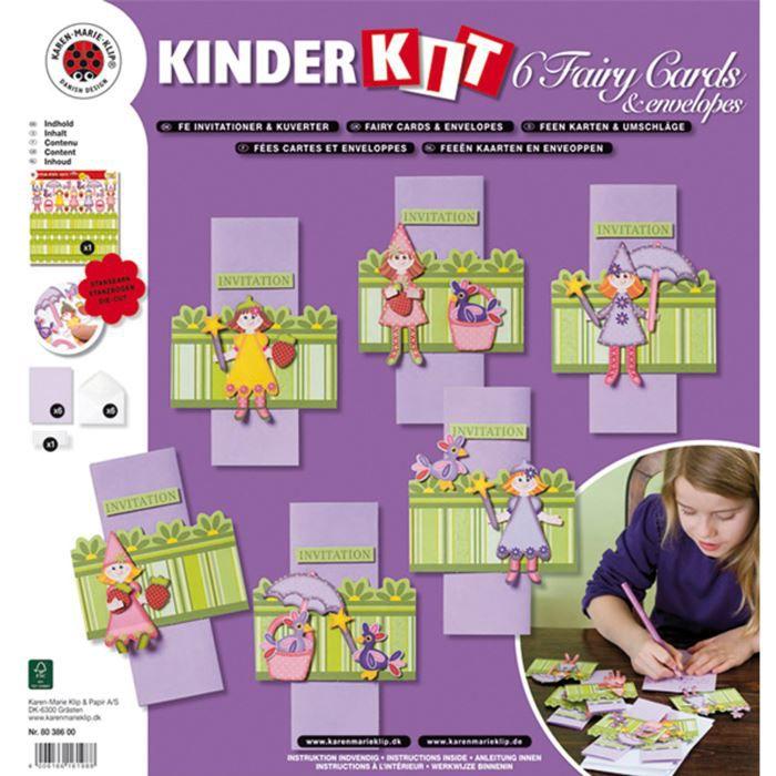 Kit - Fée - 6 cartes et enveloppes - Karen Mari…