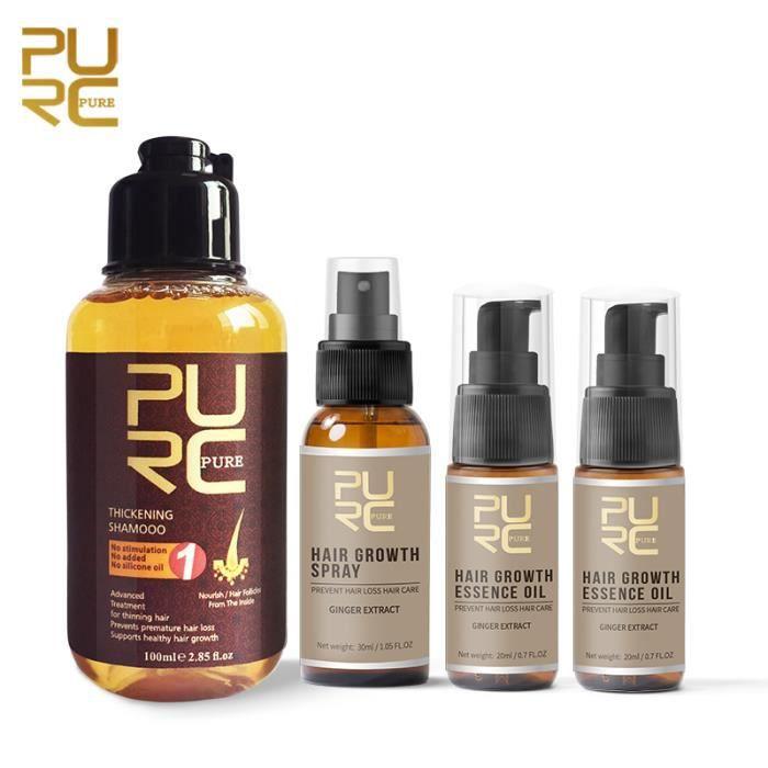ABU5 Fast Growth Hair Essence Oil Prevent Hair Loss Treatment and Growth Hair Spray and Thicken Hair Shampoo Set