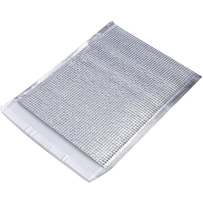 SAC DE CONSERVATION Create Lot de 10 sacs de rangement isothermes en aluminium argenteacute 25 x 30 cm1160