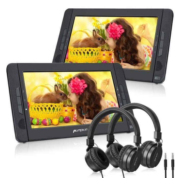 Accessoires pour lecteurs MP3 Pumpkin Double Ecrans d'Appui tête Lecteur DVD Portable Voiture(Un Lecteur DVD et Un Monit 1243