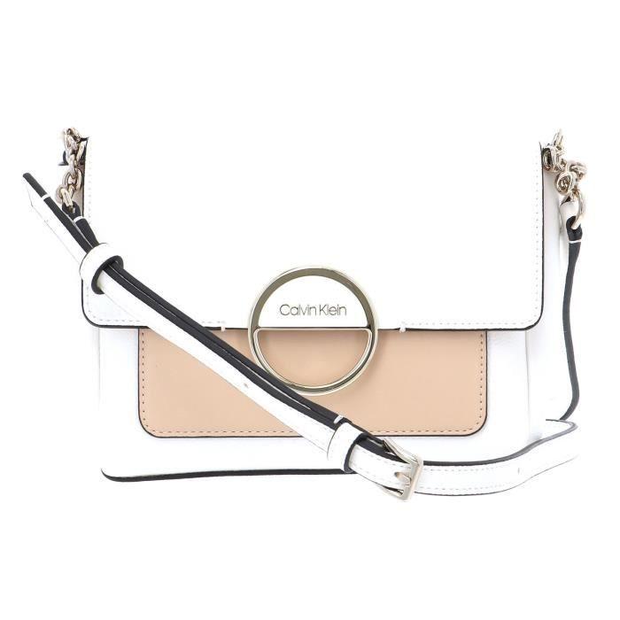 Calvin Klein Hoop Shoulder Bag S White Mix [89926] - SAC A MAIN