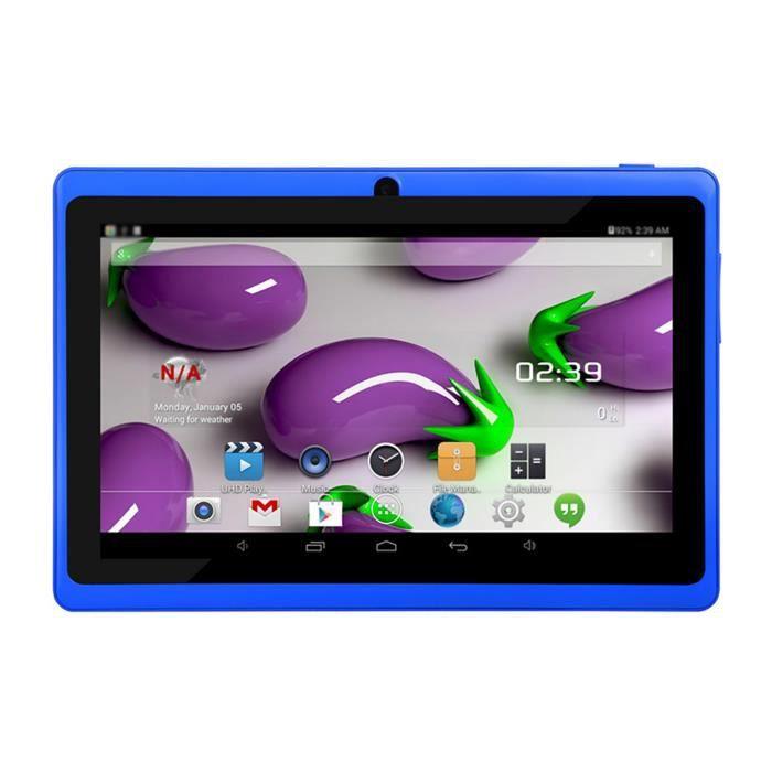 Tablette-PC pour enfants de 7 pouces avec deux caméras Tablette-PC Wi-Fi quadricœur de 16 Go cadeau d'anniversaire et Noël -1