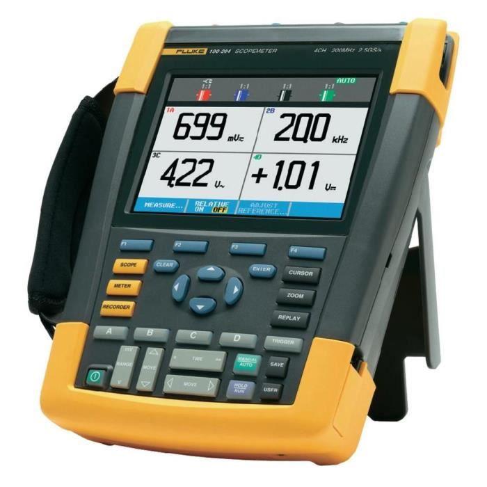 Oscilloscope portable - ScopeMeter 200 MHz 4 vo…