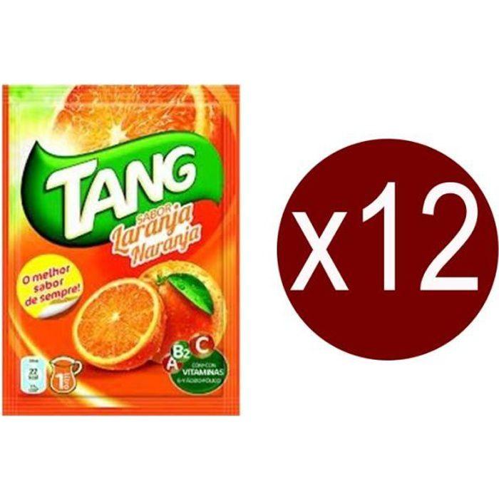 12 sachets Tang Orange.Boisson en poudre.