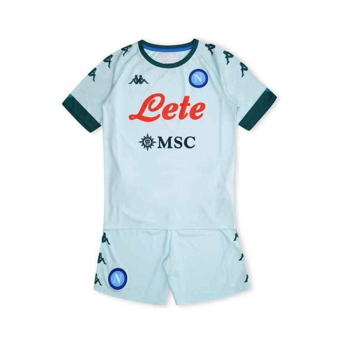 Kappa - Ensemble Enfant Kombat Kit Away Napoli Ssc Bleu