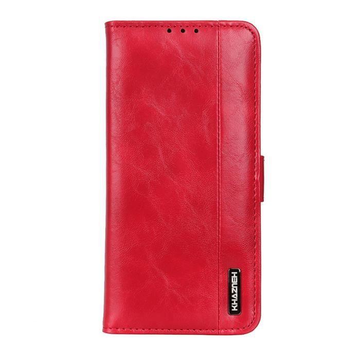 Housse à Rabat Portefeuille pour Wiko Y60 5.45-,Etui de Protection avec Fonction Support Magnétique Portables ,Rouge