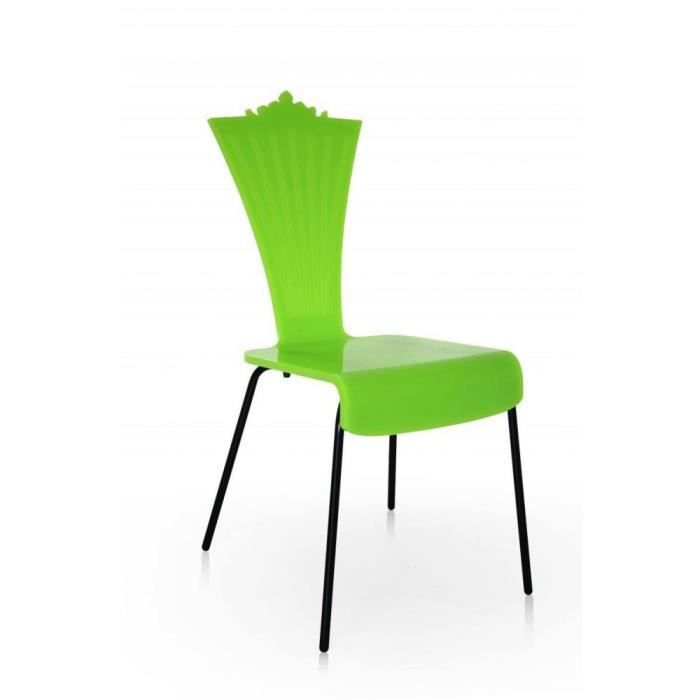 chaise couleur vert acrila plexi design achat vente chaise pmma verre cdiscount. Black Bedroom Furniture Sets. Home Design Ideas