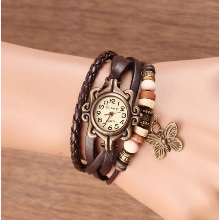 bracelet cuir chic femme