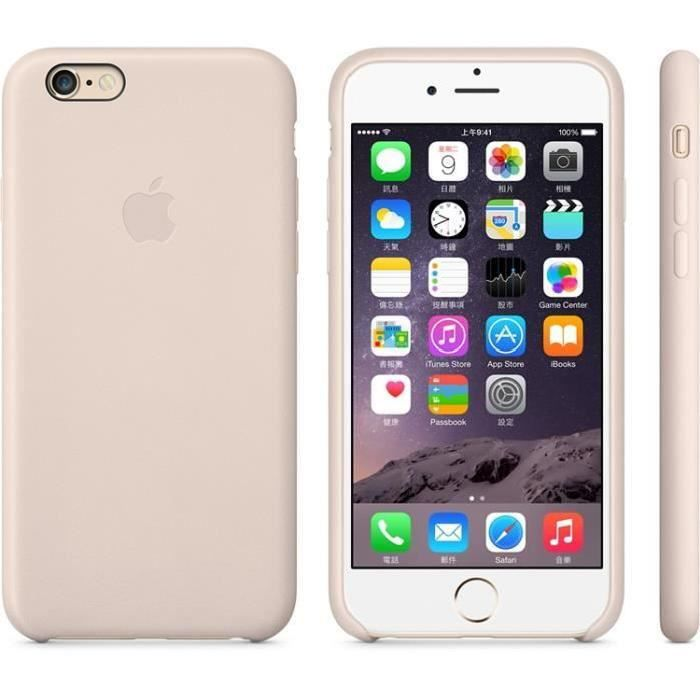 coque iphone 8 cuir beige