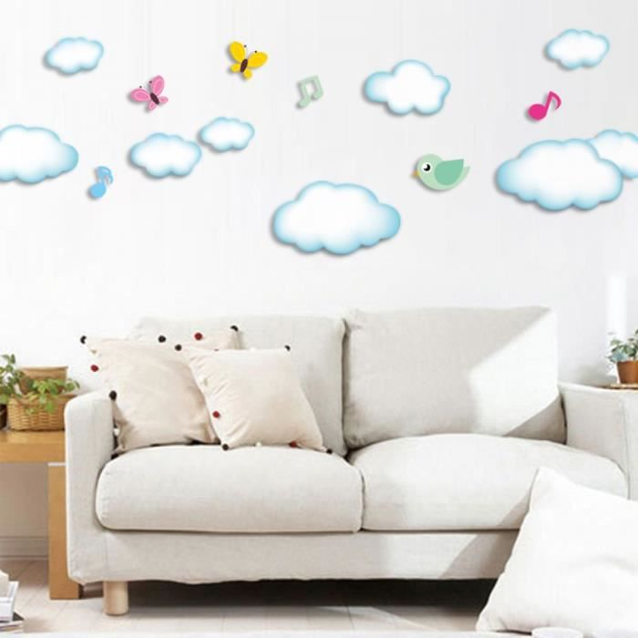 stickers muraux enfant nuage achat vente stickers muraux enfant nuage pas cher cdiscount. Black Bedroom Furniture Sets. Home Design Ideas