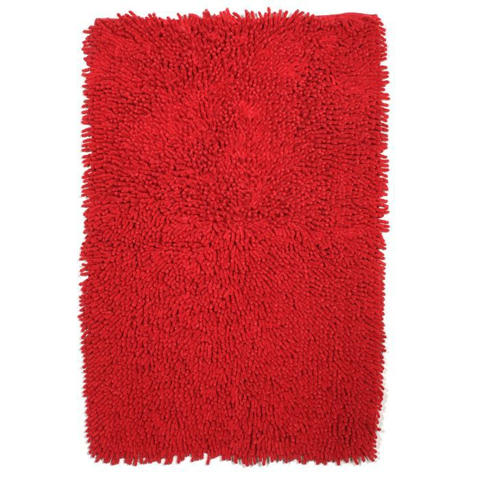 tapis de bain coton rouge 60x90cm achat vente tapis de bain cdiscount. Black Bedroom Furniture Sets. Home Design Ideas