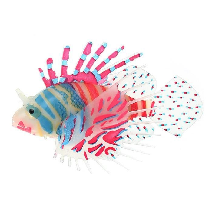 Poisson artificiel rascasse lionfish plastique d co pour for Deco aquarium poisson