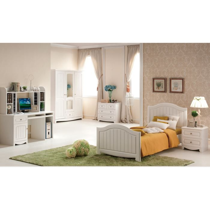 chambre enfant complete houston blanc achat vente lit complet chambre enfant complete hou. Black Bedroom Furniture Sets. Home Design Ideas