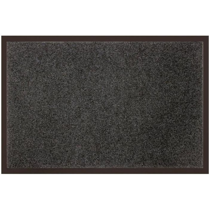 tapis uni anti poussi re 80x120 cm gris achat vente tapis 100 polyester et 100 pvc cdiscount. Black Bedroom Furniture Sets. Home Design Ideas