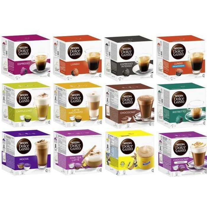 nescaf dolce gusto capsules lot de 192 capsules cafe achat vente caf chicor e nescaf. Black Bedroom Furniture Sets. Home Design Ideas
