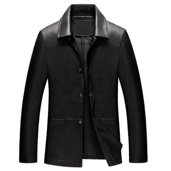 veste cuir homme marque slim pu cuir blazer de noir. Black Bedroom Furniture Sets. Home Design Ideas