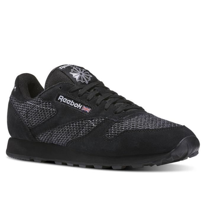Cl Chaussures Reebok Cl Chaussures Knit Leather Leather Knit Reebok 2D9IEH