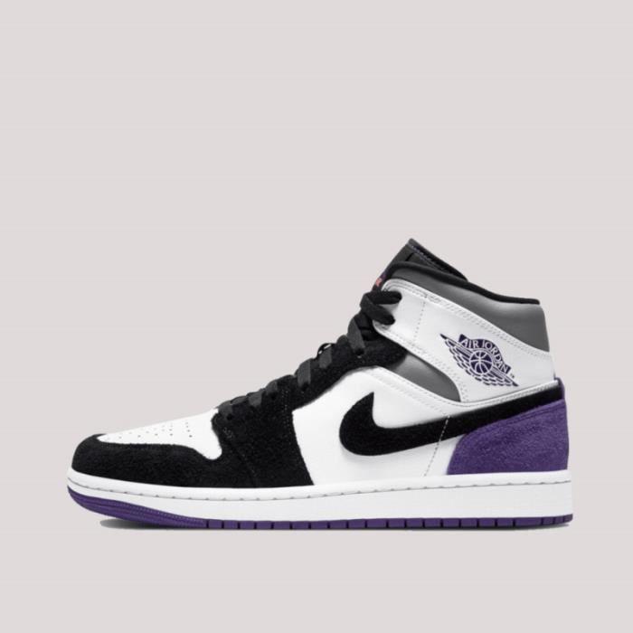 Baskets Air Jordan 1 Mid SE Varsity Violet 852542-105 Noir ...