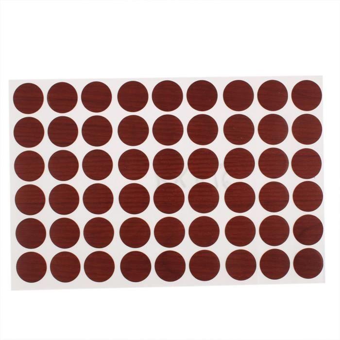 VIS - CACHE-VIS Auto-adhésif plastique couvre trou vis à 54 boucho