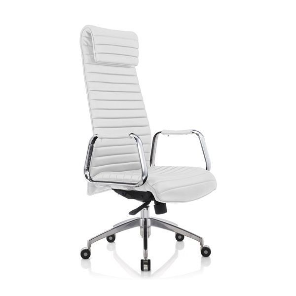 fauteuil de bureau ergonomique carrera blanc achat vente chaise de bureau blanc cdiscount. Black Bedroom Furniture Sets. Home Design Ideas