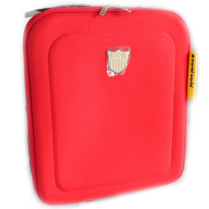 "VALISE - BAGAGE Valise trolley toile ""Travel World"" rouge (50 cm)"
