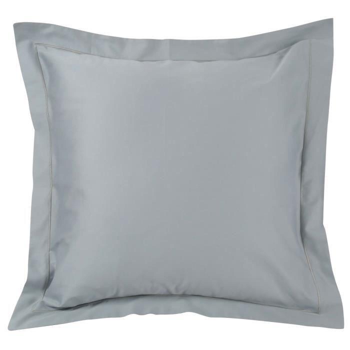 Basics Taies doreiller en satin de coton anti plis 400 fils//cm/² Bleu marine