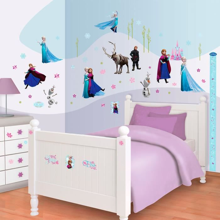 70 stickers la reine des neiges disney frozen walltastic for Chambre reine des neiges