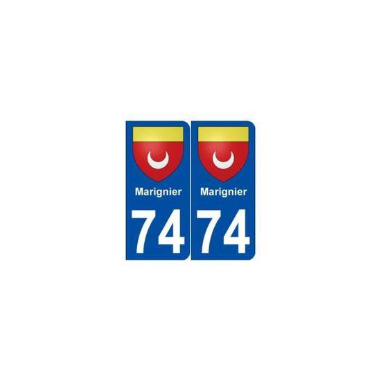 arrondis 74 Faverges blason autocollant plaque stickers ville Angles